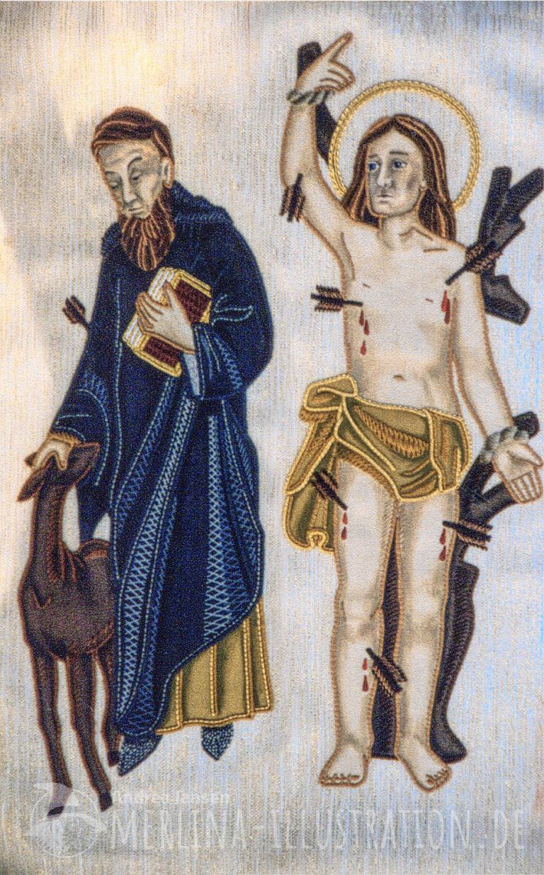 Hl Ägidius von St Gillen und Hl Sebastian