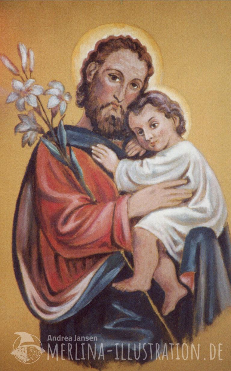 Heiliger Josef mit Jesuskind und Lilie
