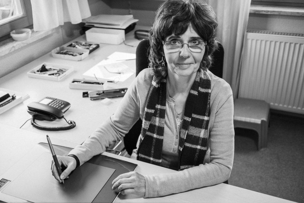 Andrea Jansen in Ihrem Atelier
