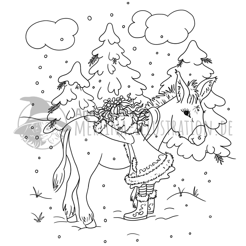 Ausmalbilder Merlina Illustration De