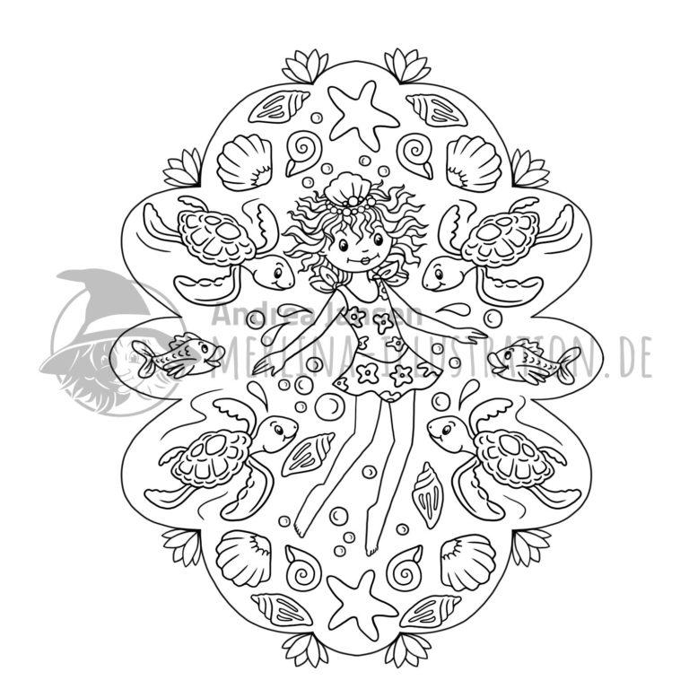 Prinzessin Lillifee im Wasser-Schildkröten-Mandala