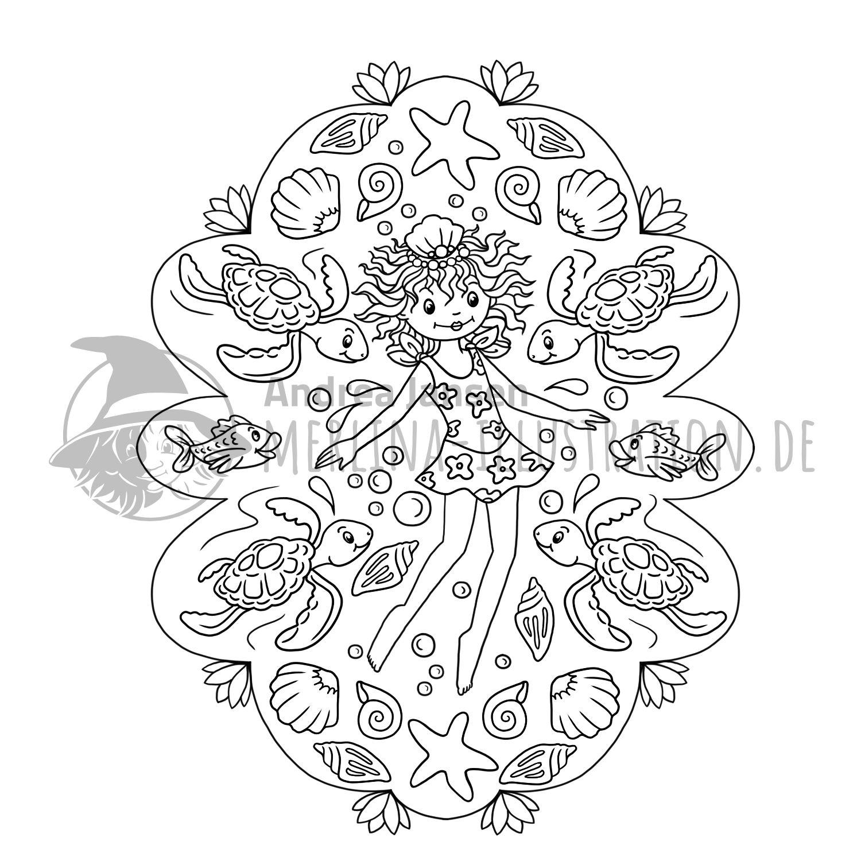 Ausmalbilder - Merlina-Illustration.de